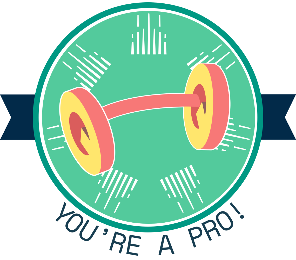 You're A Pro badge